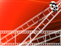 Film strip and roll. Cinema technology background Stock Photos