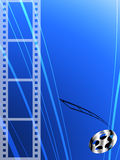 Film strip and roll. Film abstract background Royalty Free Stock Images