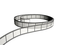 Film strip in roll. Roll of film strip isolated on white Royalty Free Stock Photography