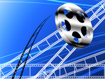 Film strip and roll, Cinema concept. Film strip and roll, Cinema background Stock Images