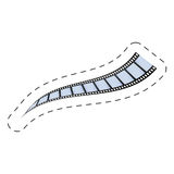 Film strip roll movie image. Illustration eps 10 Stock Photos