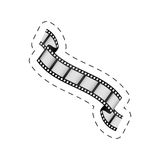 Film strip roll movie image. Illustration eps 10 Royalty Free Stock Image