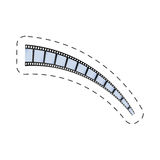 Film strip roll movie image Stock Photo