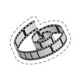 Film strip roll movie image Royalty Free Stock Photography
