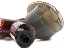 Film strip and roll Stock Image