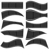 Film strip roll set one. Vector illustration on white Stock Images