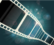 Film strip roll. Vector cinema background. Royalty Free Stock Photo