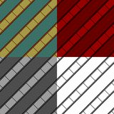 Film strip seamless background set. With diagonal film Stock Photography