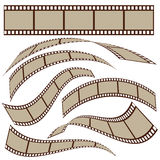 Film strip. Set of blank film strip frames with different shape. Vector illustration Stock Photography