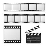 Film Strip Set and Chalkboard. Vector Royalty Free Stock Image