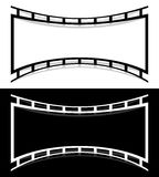 Film strip shape elements with distortion for photography / gene. Ric image concepts - Royalty free vector illustration Royalty Free Stock Image