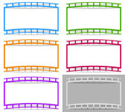 Film strip shape elements with distortion for photography / gene. Ric image concepts - Royalty free vector illustration Stock Photography