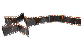 Film Strip Shooting Star Curled Stock Photos
