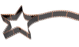 Film Strip Shooting Star Curled Stock Images