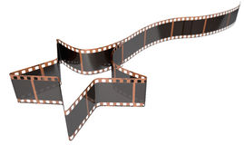 Film Strip Shooting Star Curled Stock Photography