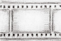 Film strip sketch Stock Photos