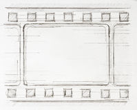 Film strip sketch Royalty Free Stock Image