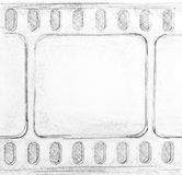 Film strip sketch Stock Images