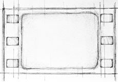 Film strip sketch Stock Photography
