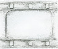 Film strip sketch Stock Photo