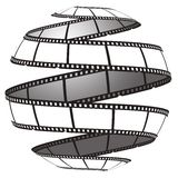 Film strip in a sphere/globe Stock Photo