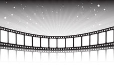 Film strip and stars Stock Photos