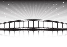Film strip and stars. Vewctor film strip background Royalty Free Stock Photo