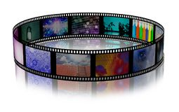 Bright Footage. Film strip of surreal and abstract footage. 3D rendering Royalty Free Stock Photography