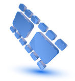 Film strip symbol. Blue film strip symbol on white background Royalty Free Stock Photos