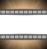 Film strip template. Film strip document template with place for your custom message Stock Photo