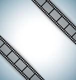 Film strip template. Film strip document template with place for your custom message Stock Images