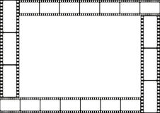 Film strip template border, movie theater frame, vector Stock Photos