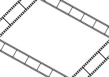Film strip template card, movie theater frame corners Royalty Free Stock Photography