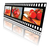 Film Strip of Tomatoes Royalty Free Stock Photography