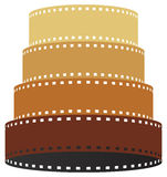 Film strip tower. Vector illustration of film strip tower Stock Photo