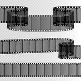 Film strip  on transparent background. Movie reel template. Vector Stock Photos