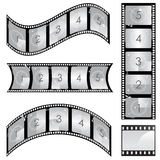 Film strip vector. Vector Set of film strip design elements Stock Image
