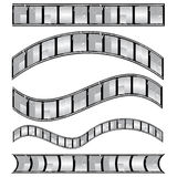 Film strip vector. Vector set of film strip design elements Royalty Free Stock Photo