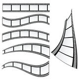 Film strip vector art illustration. Film strip vector illustration on white background Royalty Free Stock Photos