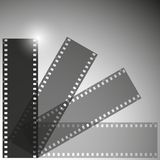 Film strip vector background. Film strip background, dark design vector illustration Stock Photo
