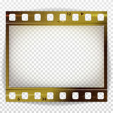 Film Strip Vector. Cinema Of Photo Frame Strip Blank Scratched Isolated On Transparent Background. Film Strip Vector. Cinema Of Photo Frame Strip Blank Isolated Stock Image