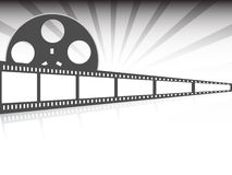 Film strip vector illustration. Film strip on gray background  illustration Royalty Free Stock Photography