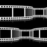 Film strip vector illustration. On black background Stock Photography