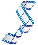 Film strip. Vector illustration of blue film strip Stock Images