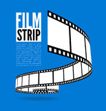 Film strip vector illustration. On blue background Royalty Free Stock Image