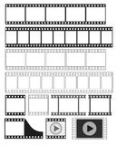 Film strip - vector illustration. Film strip, 35 mm negative strip, movie, video player icon - vector illustration fully editable, you can change form and color Stock Images