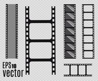 Film strip. Vector illustration. Set. Set of  film strip isolated on transparent background. Film strip Royalty Free Stock Photography