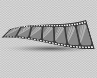 Film strip vector illustration. Vector illustration. On a transparent background Royalty Free Stock Photos