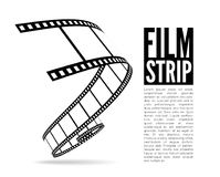 Film strip vector illustration. On white background Royalty Free Stock Photos