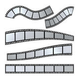 Film strip vector. Vector realistic illustration of film strip on white background. Template film roll Stock Image